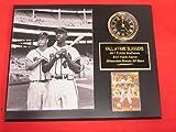 Hank Aaron Eddie Mathews Milwaukee Braves Collectors Clock Plaque w/8x10 Photo and Card