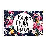 Desert Cactus Kappa Alpha Theta Floral Pattern Letter Sorority Flag Greek Letter Use as a Banner Large 3 x 5 Feet Sign Decor For Sale