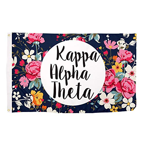 Desert Cactus Kappa Alpha Theta Floral Pattern Letter Sorority Flag Greek Letter Use as a Banner Large 3 x 5 Feet Sign Decor For Sale