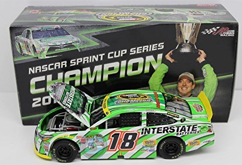 Busch Hood - 2015 Action Racing Collectables 1/24 Kyle Busch #18 Interstate Batteries 2015 Championship Edition Toyota Camry Metal Diecast Body, Plastic Chassis Hood Opens 805 Produced (Less than 20 per state!)