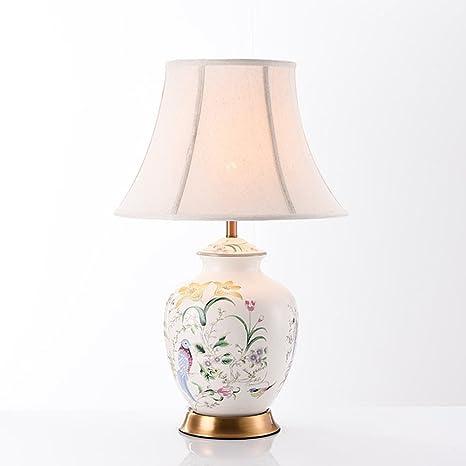 LLW Lámpara de Mesa de cerámica Oriental Grande - Estilo ...