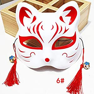 FYPmj máscara Máscara de Zorro Pintado Estilo japonés y