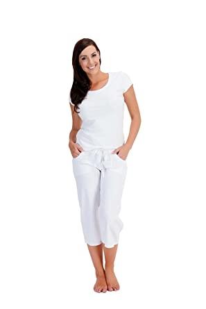 bb190cd50cb21 Ladies Womens Tom Franks Light Cool Linen Summer 3 4 Capri Crop Trousers  LN563 (
