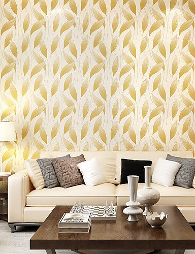 XF Contemporary Wallpaper Art Deco 3D Relief Leaves Wallpaper Wall ...