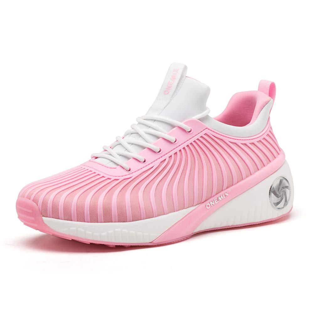 CHANG Mode Damen Hohe Schuhe Vier Jahreszeiten Laufschuhe Leichte Atmungsaktive Freizeitschuhe Rosa 35
