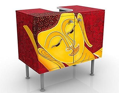 flat Apalis Design Vanity Grunge Flower 60x55x35cm bathroom bathroom cupboard adjustable vanity unit small washstand narrow 60cm wide wash basin base unit