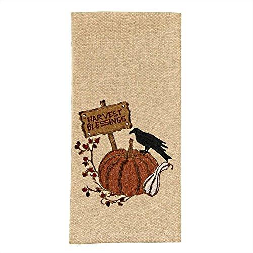Park Designs Pumpkin Embroidered Dishtowel (Harvest Blessings) by Park Designs