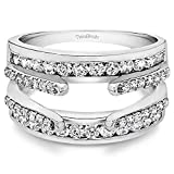 1.04 ct. Diamonds (G-H,I2-I3) Combination Cathedral and Classic Ring Guard in Sterling Silver (1 ct. twt.)