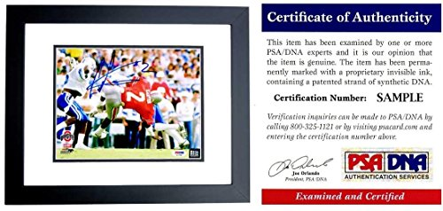 Cris Carter Autographed Photograph - 8x10 inch BLACK CUSTOM FRAME Chris Certificate of Authenticity COA) - PSA/DNA Certified (Cris Carter Photograph)