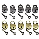 ASIBT Old Vintage Antique Style Mini Padlocks Key Lock (Lot of 10), Jewelry Findings, Arts, Crafts & Sewing