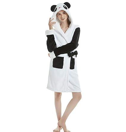 SHANGXIAN Mujeres Calentar Animal Bata De Baño Encapuchado Suave Felpa Batas Linda Ropa De Dormir Loungewear