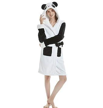 SHANGXIAN Mujeres Calentar Animal Bata De Baño Encapuchado Suave Felpa Batas Linda Ropa De Dormir Loungewear,Adult,M: Amazon.es: Hogar