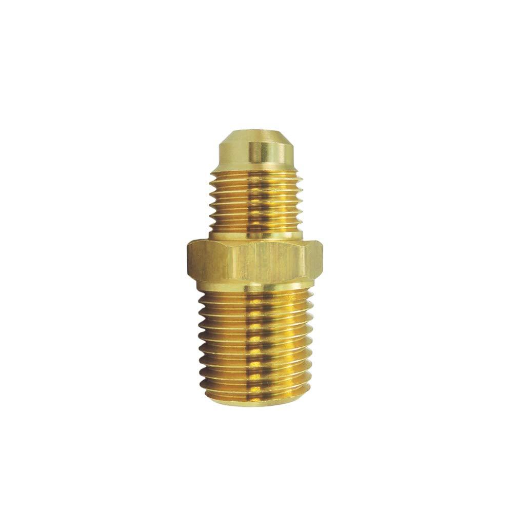 "Nigo Industrial Co. Brass Tube Fitting, Half-Union, Flare x NPT Male Pipe (1, 1/4"" Flare x 1/4"" NPT Male)"