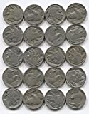 20 Indian Head Buffalo Nickel Coins Lot Full Date 1/2 Roll Mixed Set Collection