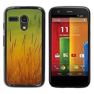 Be Good Phone Accessory // Dura Cáscara cubierta Protectora Caso Carcasa Funda de Protección para Motorola Moto G 1 1ST Gen I X1032 // Sun Yellow Field Rye Crop Nature