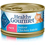 Blue Buffalo Healthy Gourmet Natural Adult Pate Wet Cat Food, Indoor Chicken 3-oz cans (Pack of 24)