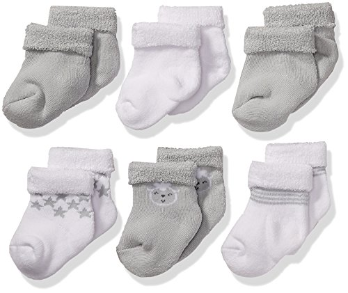 Gerber Baby Girls 6 Pair Socks
