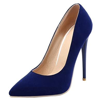 Coolulu Damen Spitze High Heels Slingback Stiletto Pumps