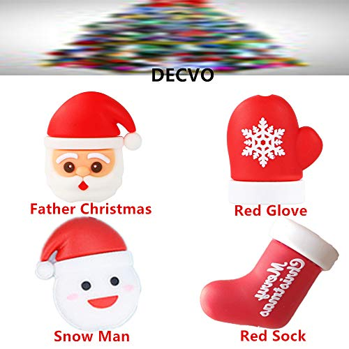 (DECVO Cable Protector Compatible with iPhone iPad Android Samsung Galaxy Cable PVC Christmas Cute Phone Accessory USB Charger Data Protection 4 Pack Cover Chewers Earphone Cord Bites (4 PC))