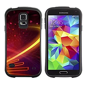 All-Round Hybrid Rubber Case Hard Cover Protective Accessory Gerneration-I Compatible with SAMSUNG GALAXY S5 - Digital galaxy