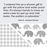 Boppy Premium Nursing Pillow Cover, Gray Elephants