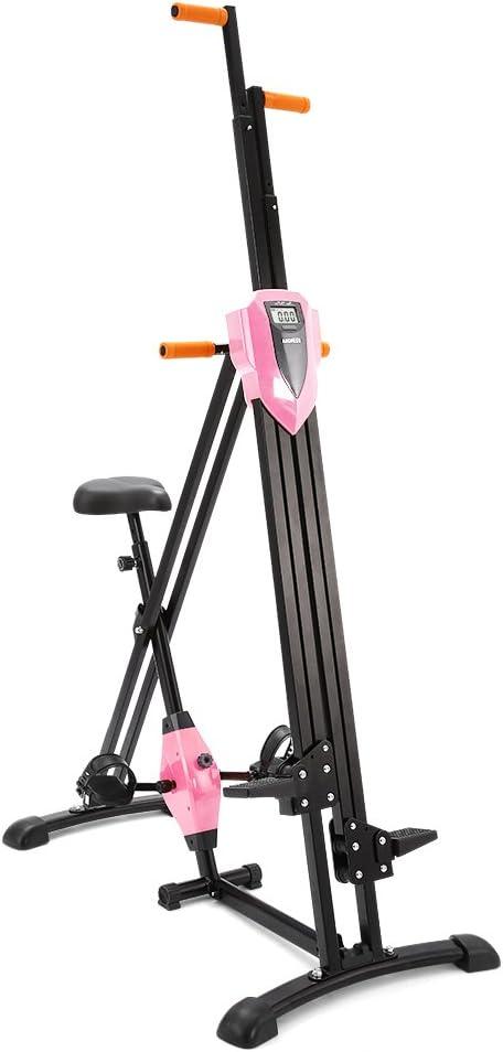 Ziema Escalera vertical 2 en 1 para escalada, escalada, ejercicio, fitness, escalera plegable, cardio, rosa: Amazon.es: Deportes y aire libre