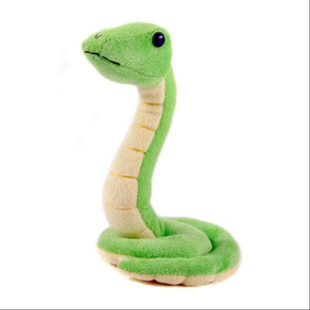 Felpa Serpiente 20cm Verde Serpiente Decoración Parodia Estatuilla Mascotas Regalo para Niños Niñas