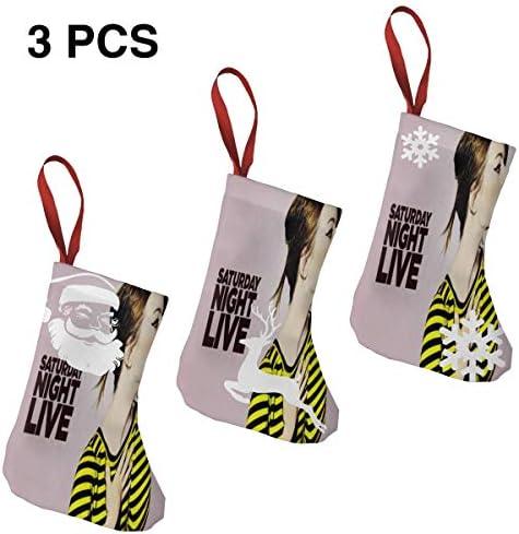 クリスマスの日の靴下 (ソックス3個)クリスマスデコレーションソックス 俳優歌手エマス トーンEmma Stone クリスマス、ハロウィン 家庭用、ショッピングモール用、お祝いの雰囲気を加える 人気を高める、販売、プロモーション、年次式
