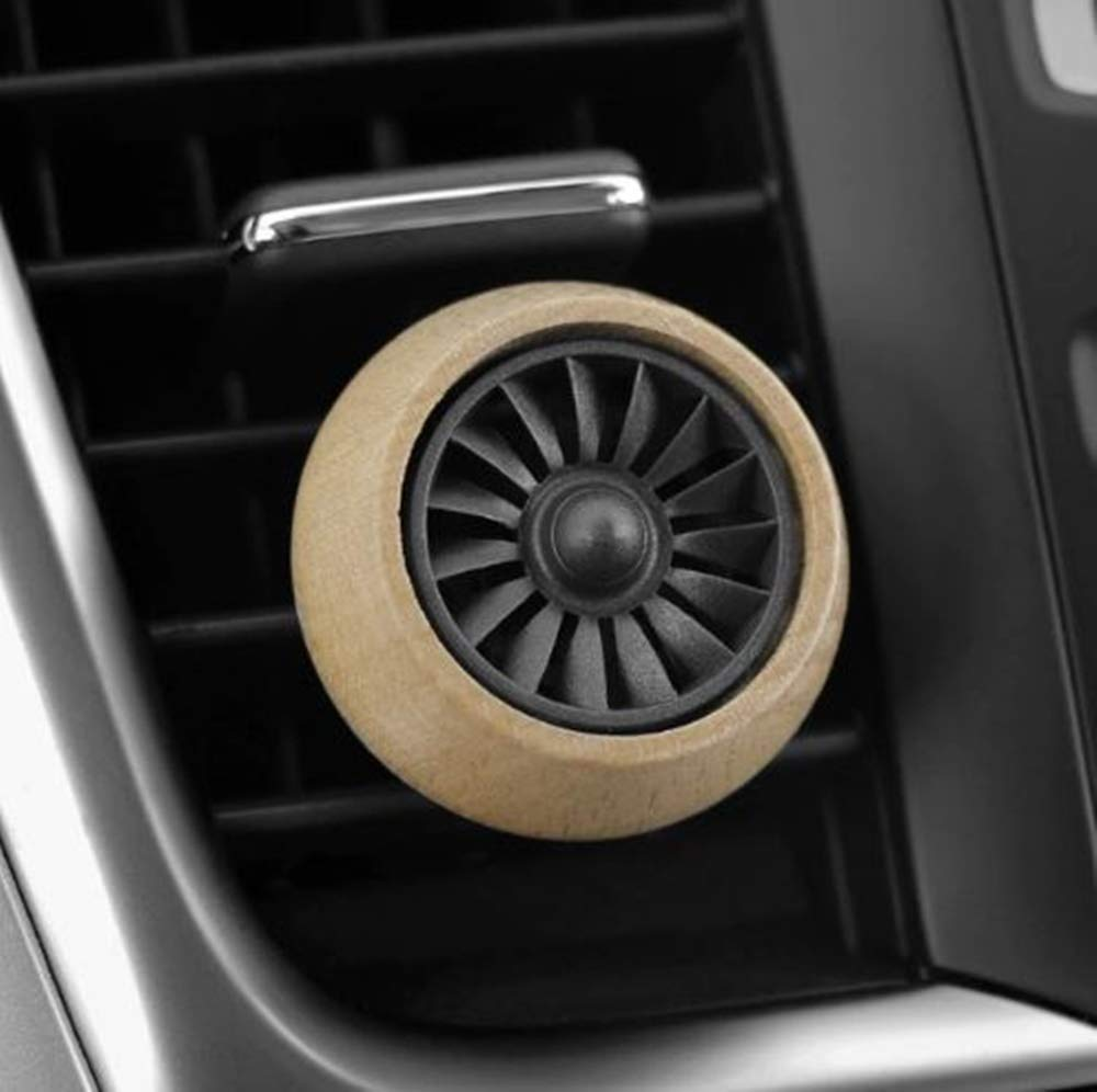cyberday Car Fragrance Diffuser - Car Scent Wood Car Air Vent Perfume - Solid Fragrance Clip Air Freshener Auto Creative Aromatherapy Scent Decoration Accessories (Beige)