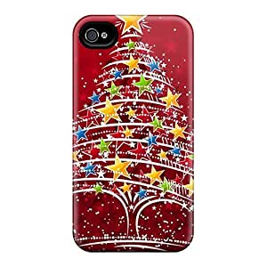 Hard Plastic Iphone 4/4s Case Back Cover,hot Christmas Tree Case At Perfect Diy by supermalls