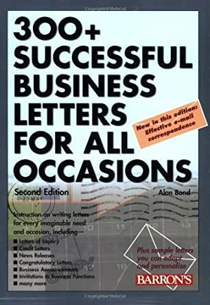 Amazon 300 Successful Business Letters For All