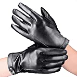 CWJ Gloves Male Touch Screen Thick Warm Driving,Black,Medium
