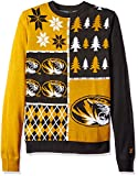 Klew NCAA Busy Block Sweater, Large, Missouri Tigers