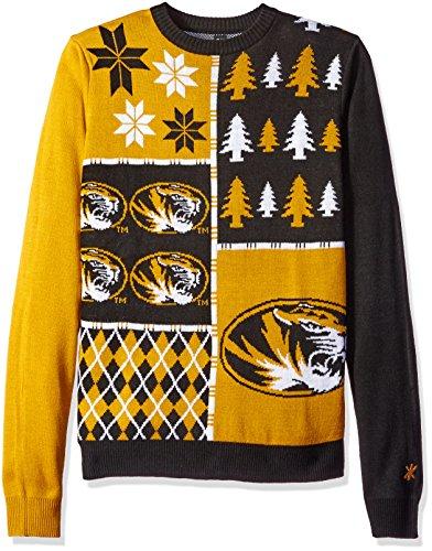 Klew NCAA Busy Block Sweater, Medium, Missouri Tigers ()