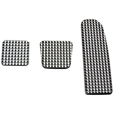 RealWheels RW235-1-FL Diamond Billet Pedals (Set of 3): Automotive