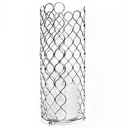 Fancy Euro Ware Deluxe Chrome Metal Wire Toilet Paper Holder