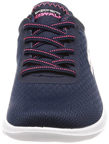 Bleu Femme Baskets Skechers Navy Go Lite Impulse Walk Pink qPSPfw