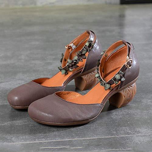 Grey Chaussures Décontracté pour Femmes Rétro Sauvage ZPEDY Respirant Portable élégant wqg1zqx