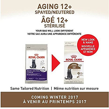 Amazon.com : Royal Canin Aging Spayed/Neutered Senior 12+ Dry Cat Food (7 lb) : Dry Pet Food : Pet Supplies