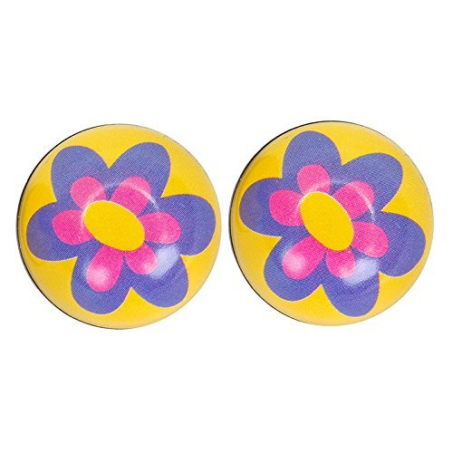 TRICK TOPS Flower Valve Caps Purple [並行輸入品]
