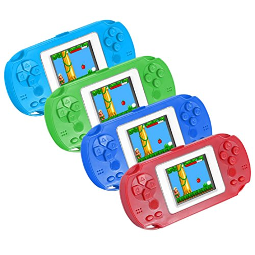 Bigbuyu 268 Games in 1 Portable Game Console, Kids' Classic Retro Handheld Game Player 2.0'' LCD Arcade Style Old School Gaming System, Best Electronics Toys Gift for Kids, Random Color (Best Handheld Gaming System For 4 Year Old)