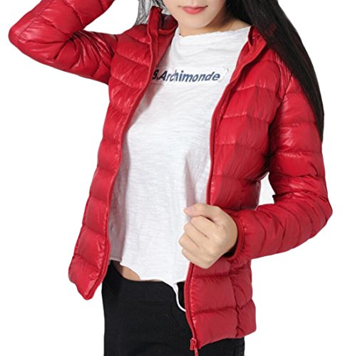Puffer Winter Sleeve Packable Women's Long amp;W M amp;S Jackets Down Red Light qFw1ARp8Z