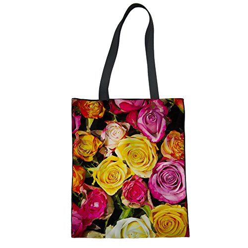 Canvas Print Color Bags for Tote Advocator Bag Work Shopping Handles Summer 1 Teacher Tote Beach Durable Tote Daily Bag 04WqdwT