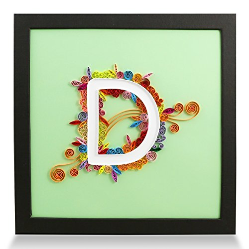 - PaperTalk Letter D Handmade Birthday Personalized Gifts for Him & Her Frame Paper Quilling 3D Wall Art for Home Decor