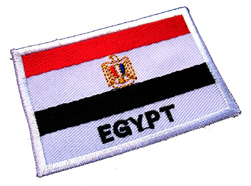 Arab Republic of Egypt Egyptian National Flag Sew on Patch Free Shipping