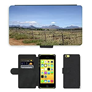 Hot Style Cell Phone Card Slot PU Leather Wallet Case // M00171342 Vineyards Vineyard Mountains Winery // Apple iPhone 5C