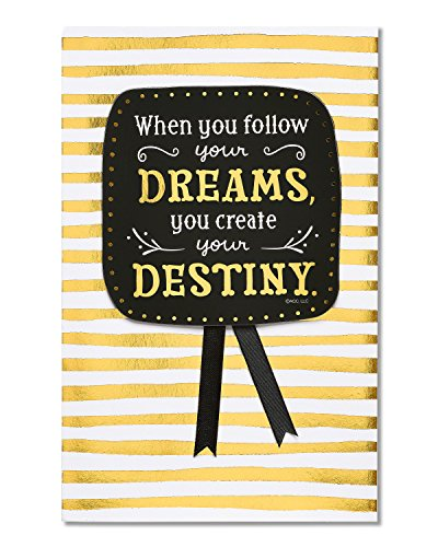 American Greetings Destiny Graduation Card with Foil