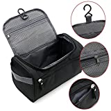 Hanzeek Hanging Toiletry Kit Clear Travel Size toiletries Bag Cosmetic Carry Case Toiletry with Travel Zip Pouch Mesh Bag Organizer Bag for Men & Women