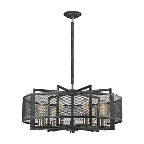 Elk 31239/9 Slatington Chandelier, 9-Light 540 Total Watts, Brushed Nickel Review