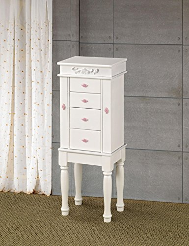 (Coaster Home Furnishings 4-drawer Jewelry Armoire White)